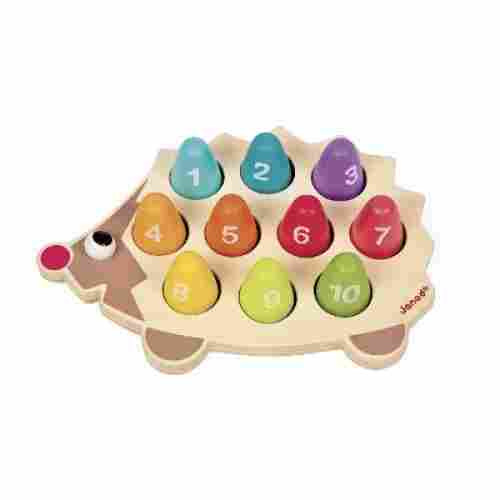 Wooden Number Hedgehog Playset