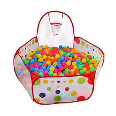Ball Pit with Basketball Hoop
