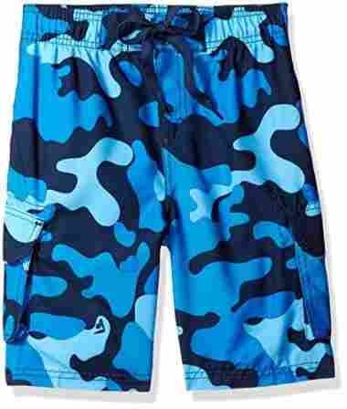 Swim shirt and trunks combo for sun protection.