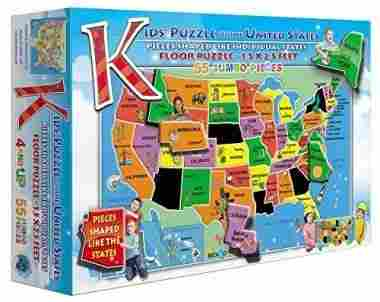 55-Piece Kids' Puzzle of the USA