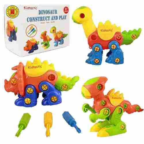 kidtastic building play set dinosaur toys for kids set