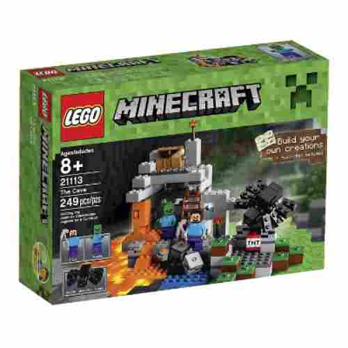 minecraft the cave cool lego set for kids box