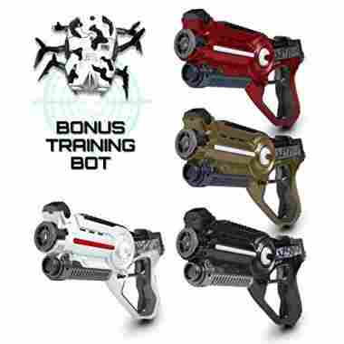 """Battle Box"" 4 Pack Lazer Tag Gun Set"