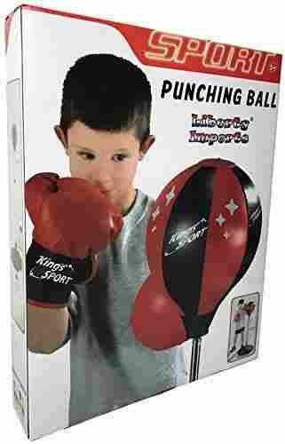 Liberty Imports Sport Punching Bag With Gloves