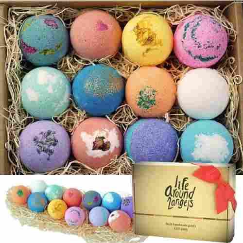life around 2 angels bath bombs christmas gifts for mom pack