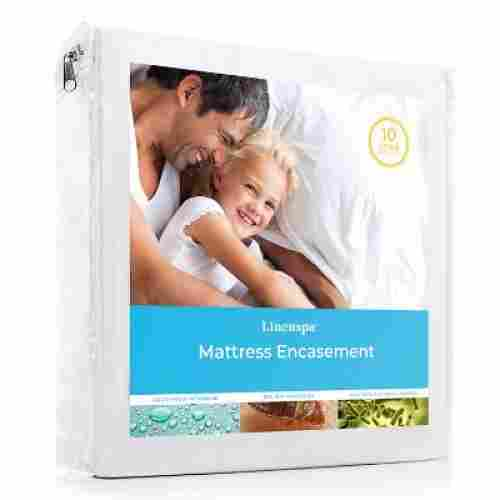 linenspa zippered mattress protector for kids waterproof