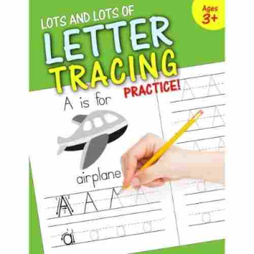 lots and lots of letter tracing practice educational book cover