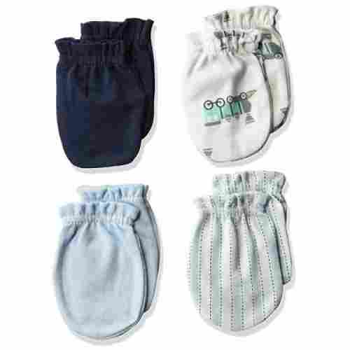 luvable friends baby mittens blue and white