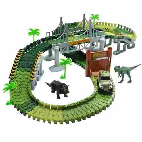 lydaz race track dinosaur toys for kids set