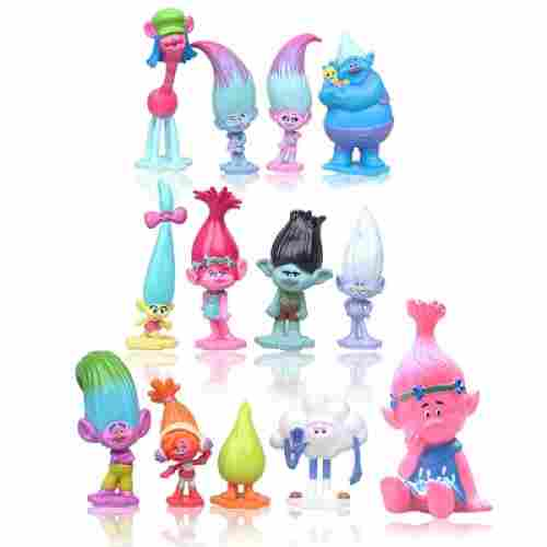 Max Fun Set of 13 Trolls Dolls