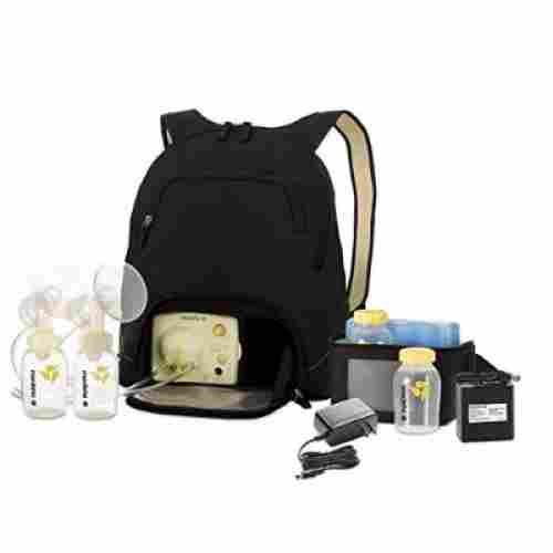 medela style advanced with backpack breast pump set