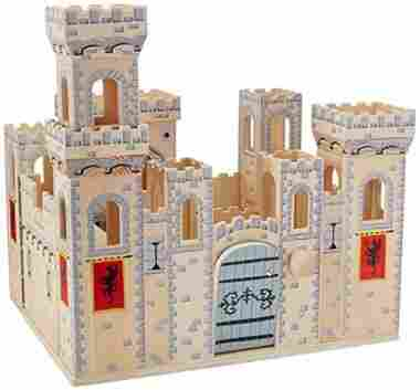 Deluxe Folding Medieval Wooden Castle