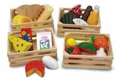 Wooden Pieces and 4 Crates