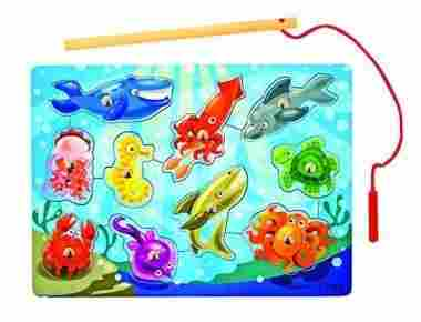 Magnetic Wooden Fishing Puzzle Game by Melissa & Doug