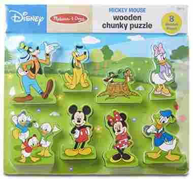 Melissa & Doug Disney Mickey Mouse Clubhouse Wooden Chunky Puzzle