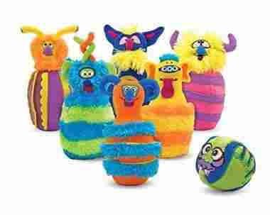 Monster Plush 6-Pin Bowling Game With Carrying Case by Melissa & Doug