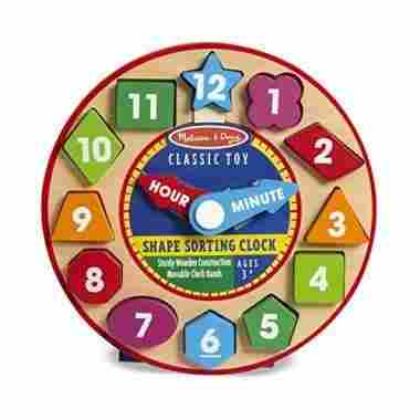 Shape Sorting Clock by Melissa & Doug