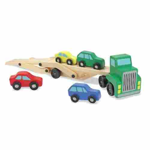 car carrier truck and cars wooden toys for kids and toddlers