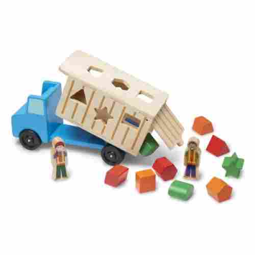 melissa & doug shape-sorting dump truck wooden toy for kids and toddlers