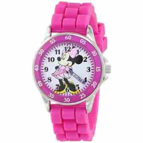 minnie mouse analog watch for kids pink