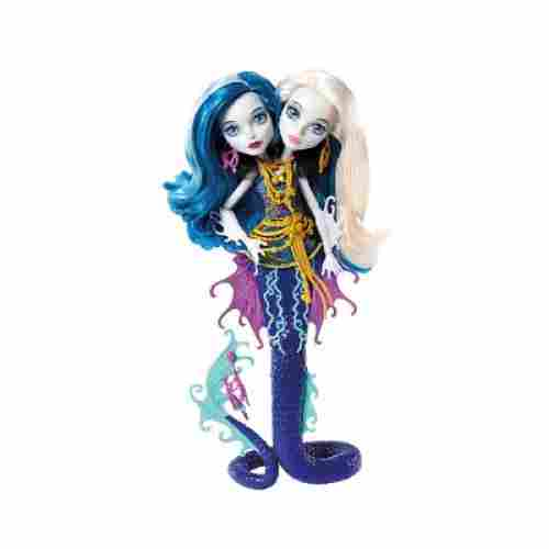 scarrier reef peri & pearl serpintine new monster high dolls display
