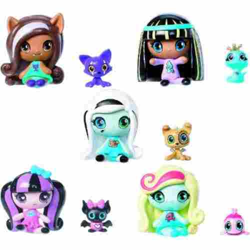 minis draculaura 5 set new monster high dolls display