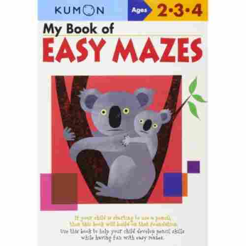 my book of easy mazes educational book cover