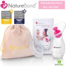 NatureBond Silicone Saver Suction Manual breast pump full display