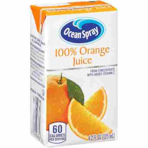 Ocean Spray Orange Juice for kids display