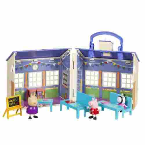 School Playset peppa pig toy set