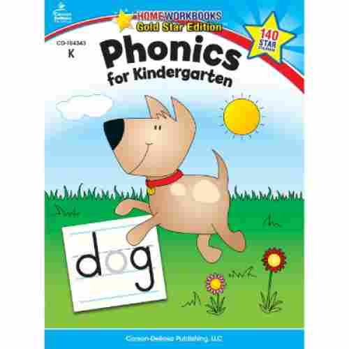 phonics for kindergarten educational book cover