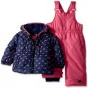 pink platinum baby snowsuit 2 piece