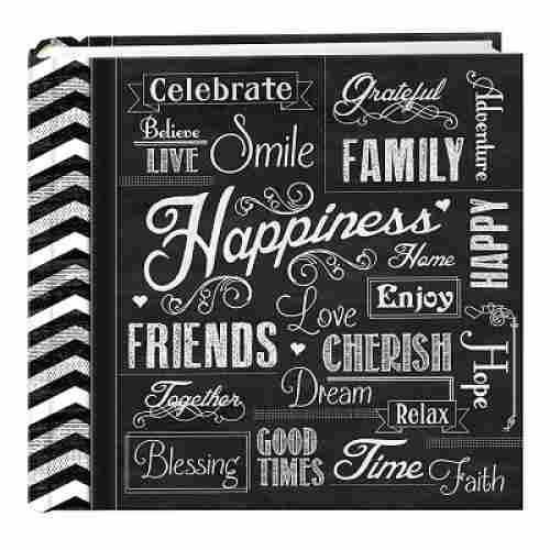 Pioneer Pocket Chalkboard family photo album front view