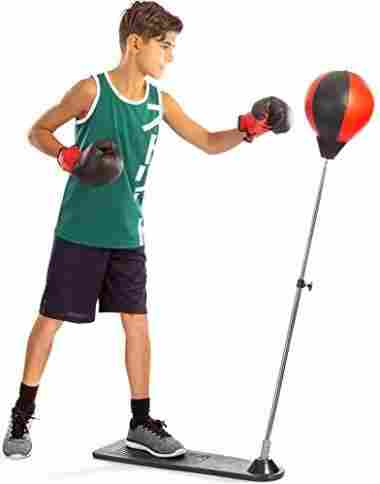 TechTools Punching Ball with Stand and Gloves