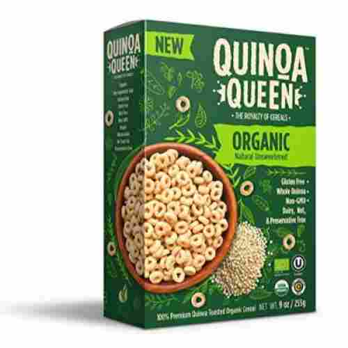 quinoa queen unsweetened organic baby cereal box