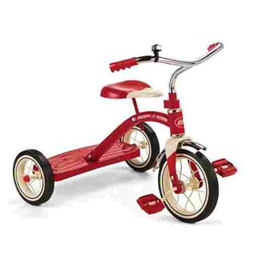 "radio flyer 10"" red classic tricycle big wheels for kids"