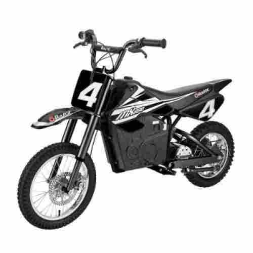 razor MX650 17 MPH steel rocket electric dirt bike for kids black