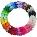 40 Piece Ribbon Pinwheel Boutique Alligator Clips