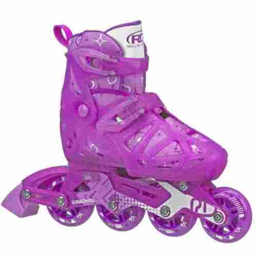 girls tracer adjustable inline roller skates for kids purple