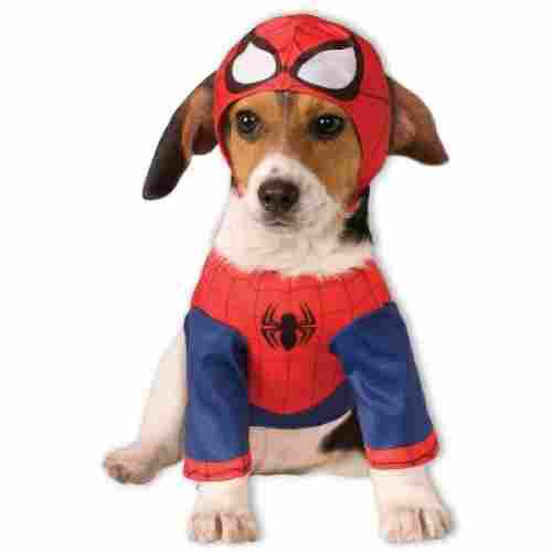 spider man halloween dog costume stretchy
