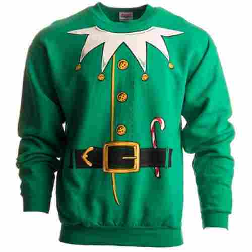 santas elf costume christmas sweater design