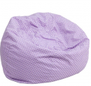 Flash Furniture Oversized Lavender bean bag chair for kids
