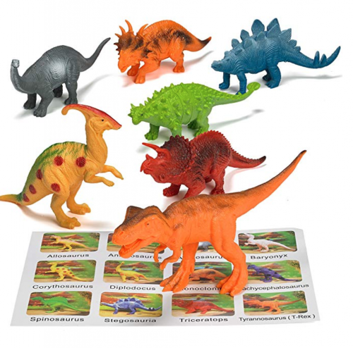 pretex realistic pack of 12 dinosaur toys for kids figures