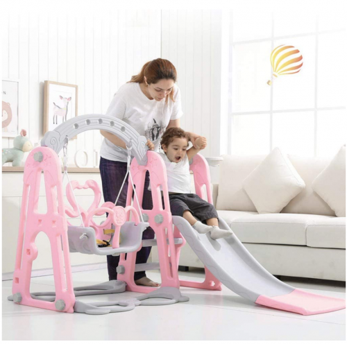 Toddler Climber and Swing Set Slide Swing Combination 3 in 1 display