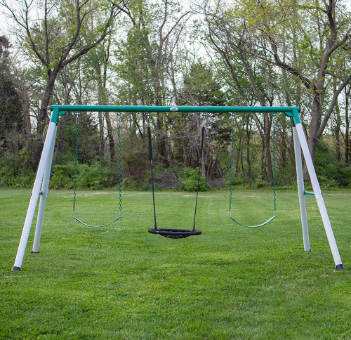 Backyard Discovery Little Brutus Metal Swing Set 2