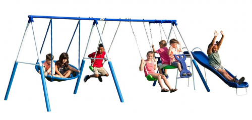 XDP Recreation All Star Outdoor Playground Backyard Kids Toddler Play/Swing Set 2