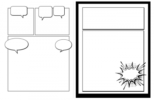 Blank Comic Book: Draw Your Own 3