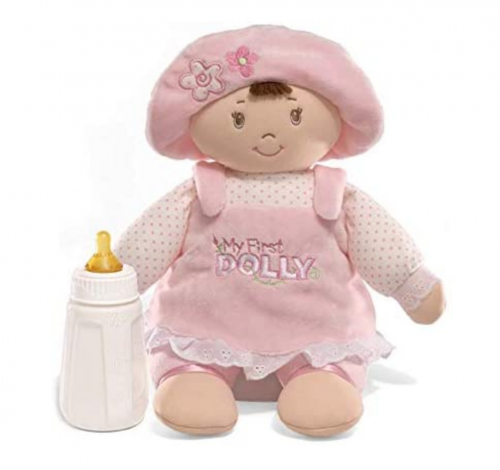 GUND My First Dolly Stuffed Brunette Doll Plush 2