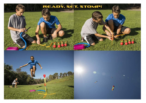 Stomp Rocket Ultra Rocket with Ultra Rocket Refill Pack 2