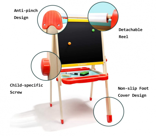 TOP BRIGHT Wooden Art Easel for Kids detail